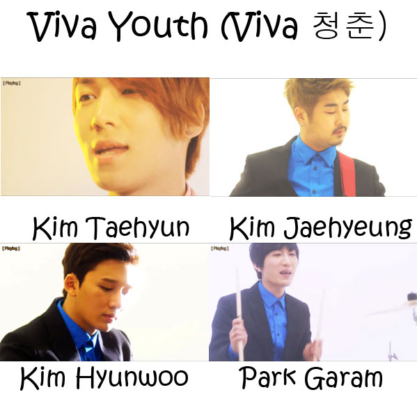 "The members of Dickpunks in the ""Viva Youth"" MV"