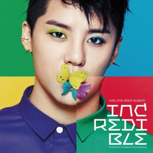 "Album art for Xia Junsu's album ""Incredible"""