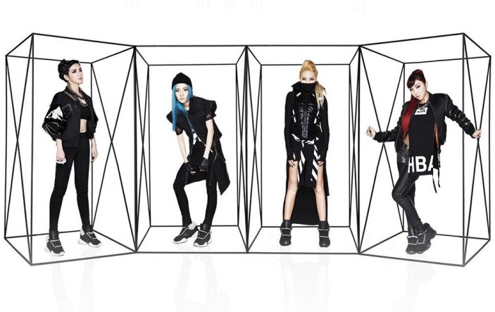 "2NE1's promotional picture for ""Crush""."