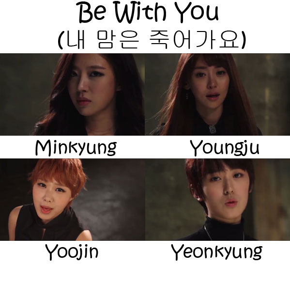 "The members of The SeeYa in the ""Be With You"" MV"