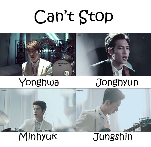 "The members of CNBLUE in the ""Can't Stop"" MV"