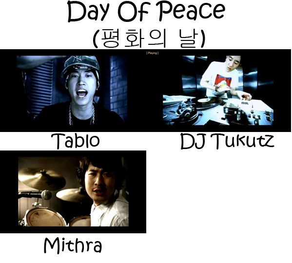 "The members of Epik High in the ""Day Of Peace"" MV"