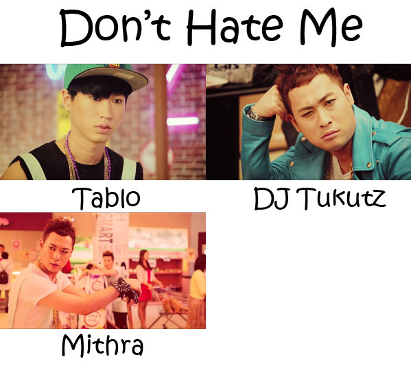 "The members of Epik High in the ""Don't Hate Me"" MV"
