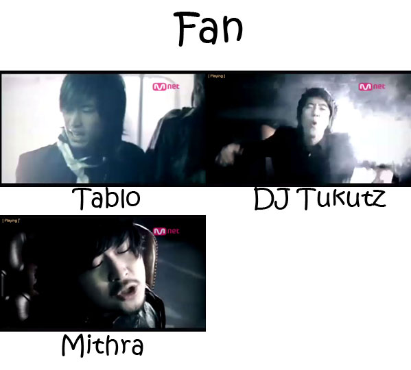 "The members of Epik High in the ""Fan"" MV"