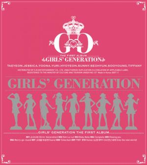"Album art for Girls' Generation's album ""Girls' Generation"""