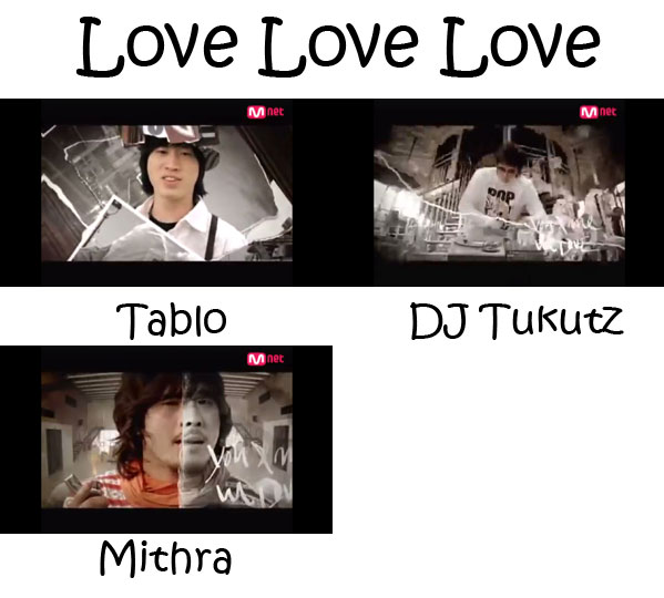 "The members of Epik High in the ""Love Love Love"" MV"