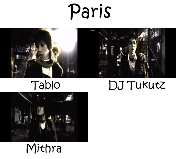 "The members of Epik High in the ""Paris"" MV"