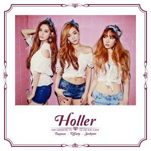 """Album art for Girls' Generation's sub-unit TaeTiSeo's album """"Holler"""""""