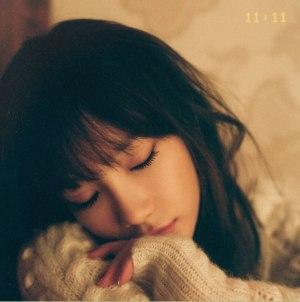 "Album art for Taeyeon (SNSD)'s album ""11:11"""