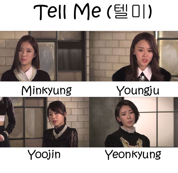 """The members of The SeeYa in the """"Tell Me"""" MV"""