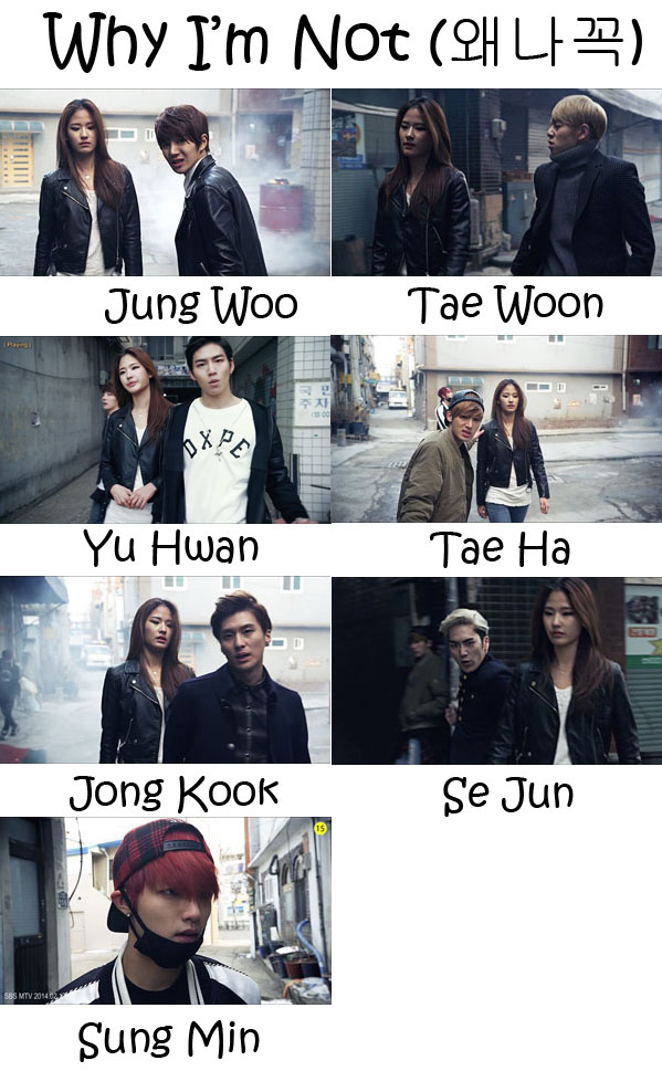 """The members of SPEED in the """"Why I'm Not"""" MV"""