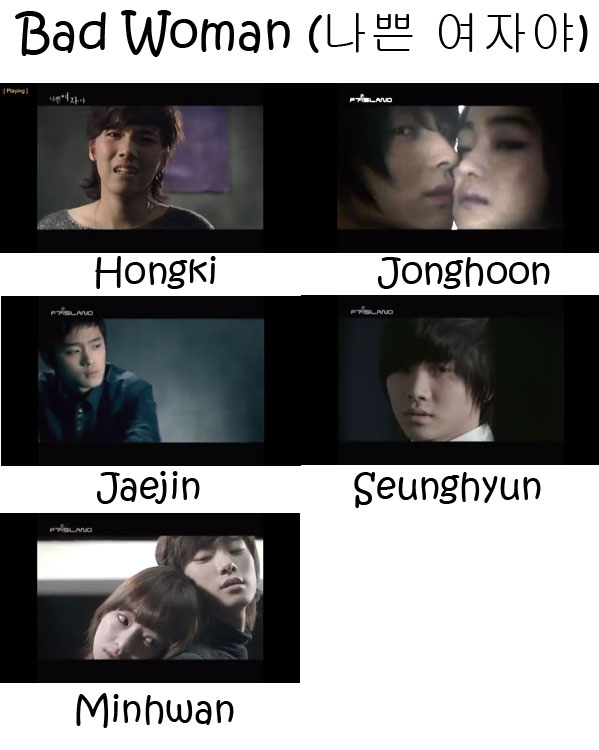 "The members of FTISLAND in the ""Bad Woman"" MV"
