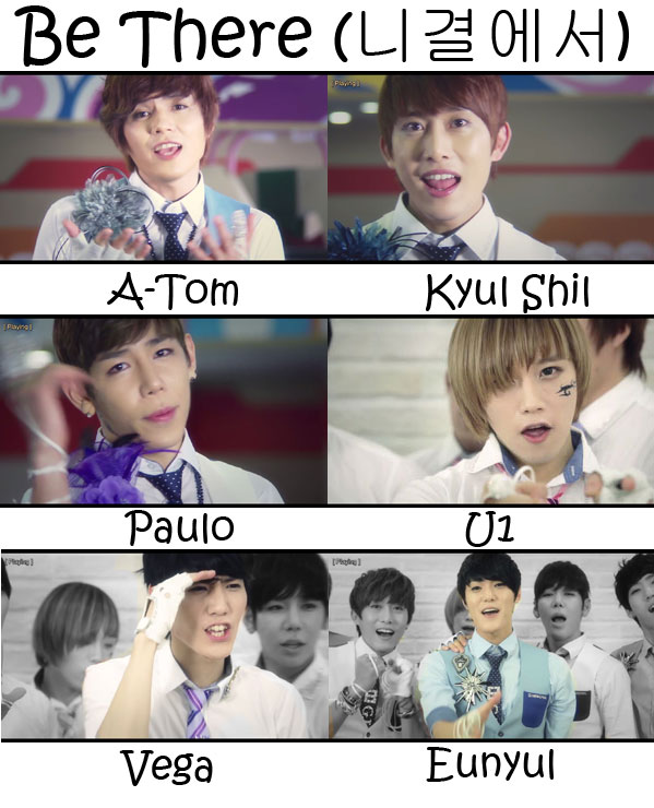 "The members of G.IAM in the ""Be There"" MV"