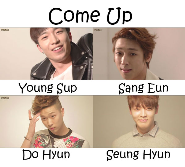 "The members of JACE in the ""Come Up"" MV"