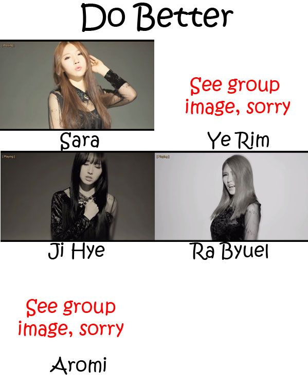 """The members of Scarlet in the """"Do Better"""" MV"""