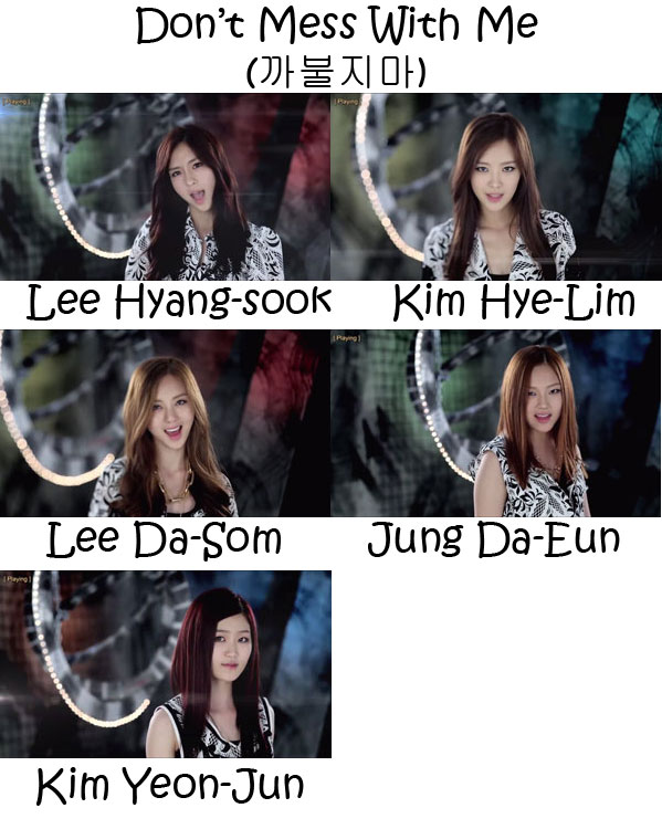 "The members of 2EYES in the ""Don't Mess With Me"" MV"
