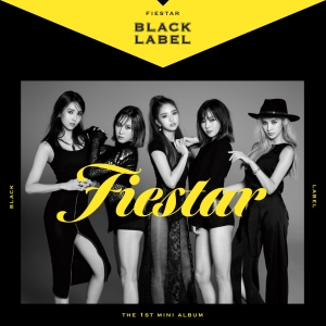 "Album art for Fiestar's album ""Black Label"""