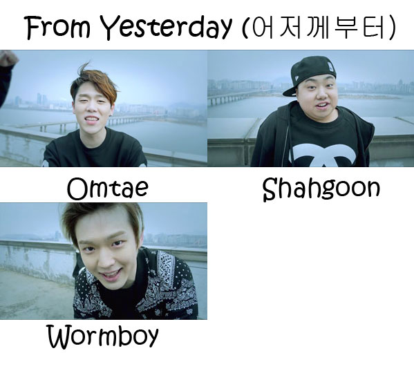 """The members of UglyPumpkin in the """"From Yesterday"""" MV"""