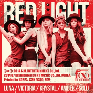 "Album art for F(x)'s album ""Red Light"""