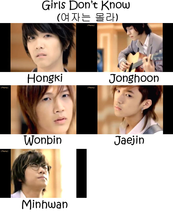 "The members of FTISLAND in the ""Girls Don't Know"" MV"