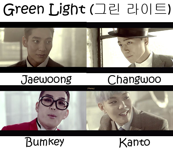 "The members of Troy in the ""Green Light"" MV"