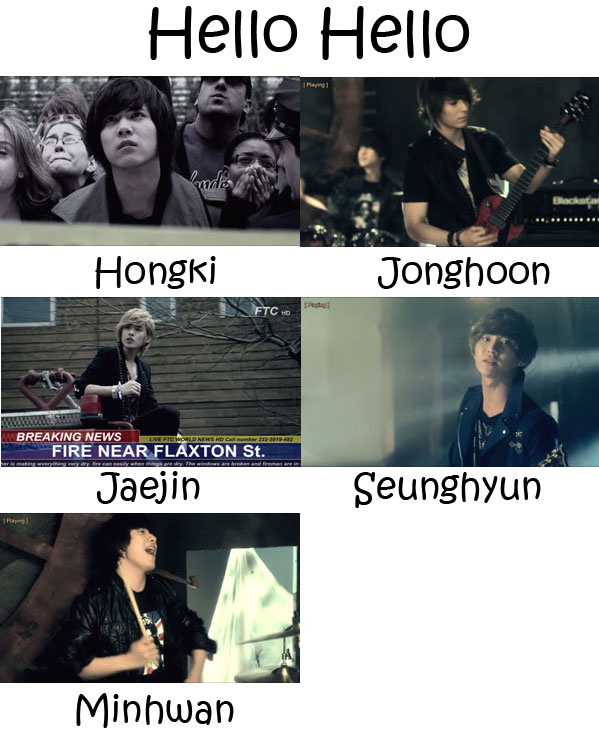 "The members of FTISLAND in the ""Hello Hello"" MV"