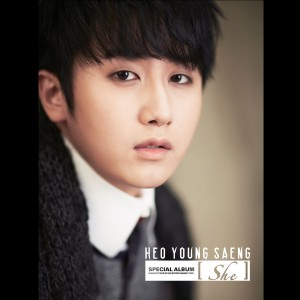 "Album art for Heo Young Saeng's album ""She"""