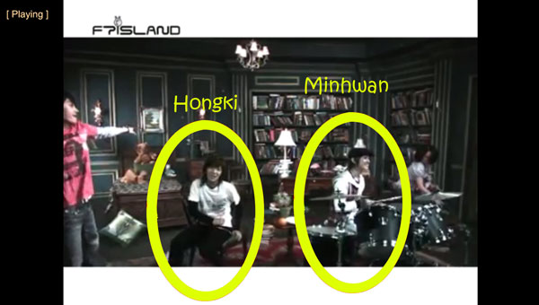 "Hongki and Minwhan in FTISLAND's video ""I Am Happy"""