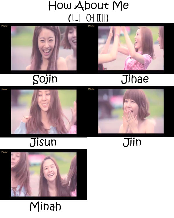 "The members of Girl's Day in the ""How About Me"" MV"