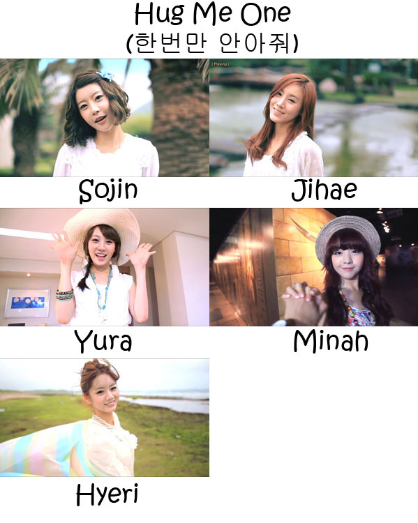 "The members of Girl's Day in the ""Hug Me Once"" MV"