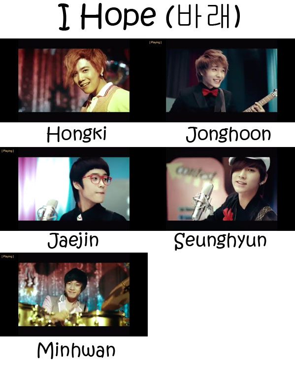 "The members of FTISLAND in the ""I Hope"" MV"