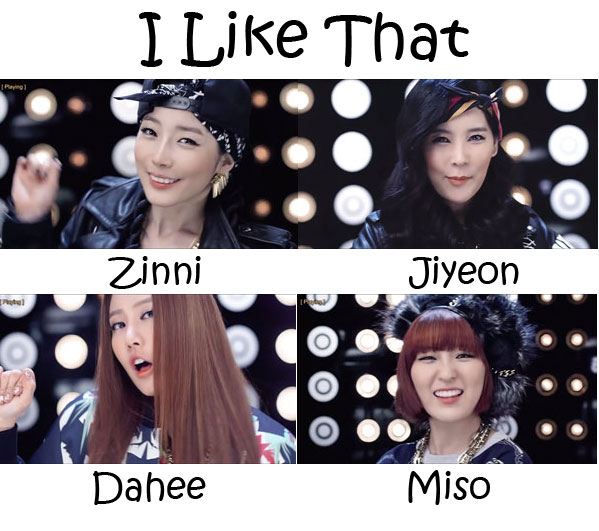 "The members of GLAM in the ""I Like That"" MV"