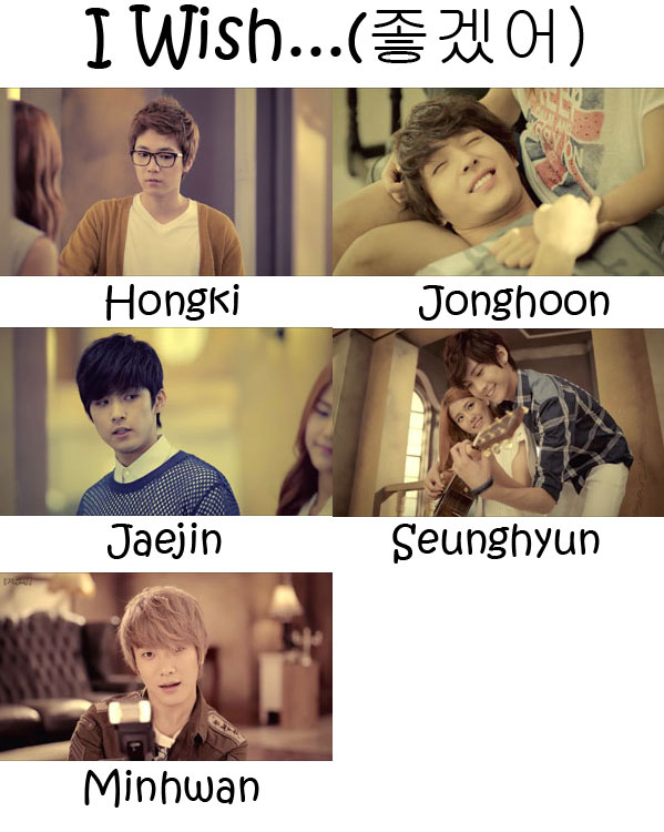 "The members of FTISLAND in the ""I Wish..."" MV"