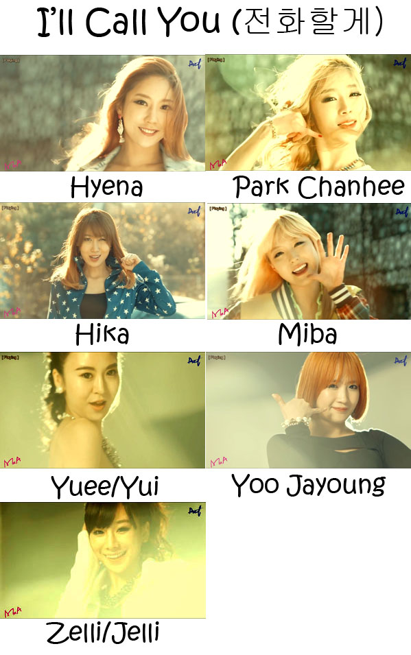 "The members of M.O.A in the ""I'll Call You"" MV"