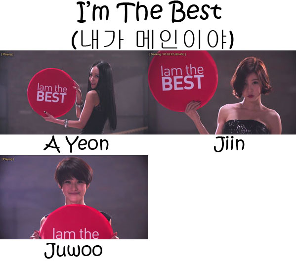 "The members of BeBop in the ""I'm The Best"" MV"