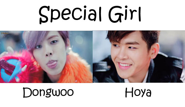 "The members of Infinite - H in the ""Special Girl"" MV"