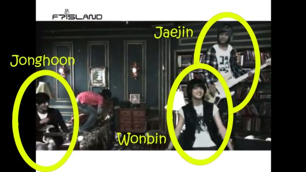 "Jonghoon, Jaejin and Wonbin in FTISLAND's ""I am Happy"" MV"