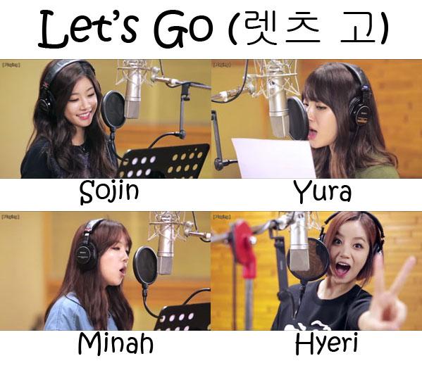 "The members of Girl's Day in the ""Let's Go"" MV"