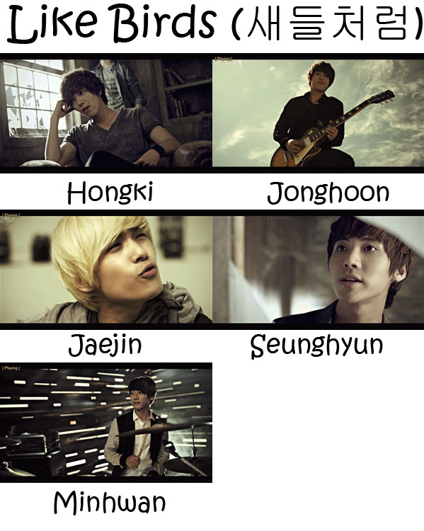 "the members of FTISLAND in the ""Like Birds"" MV"