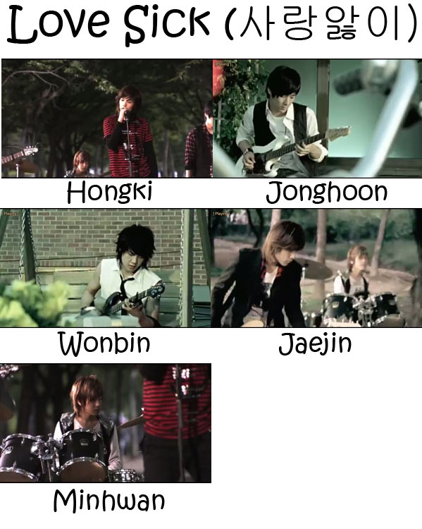 "The members of FTISLAND in the ""Love Sick"" MV"