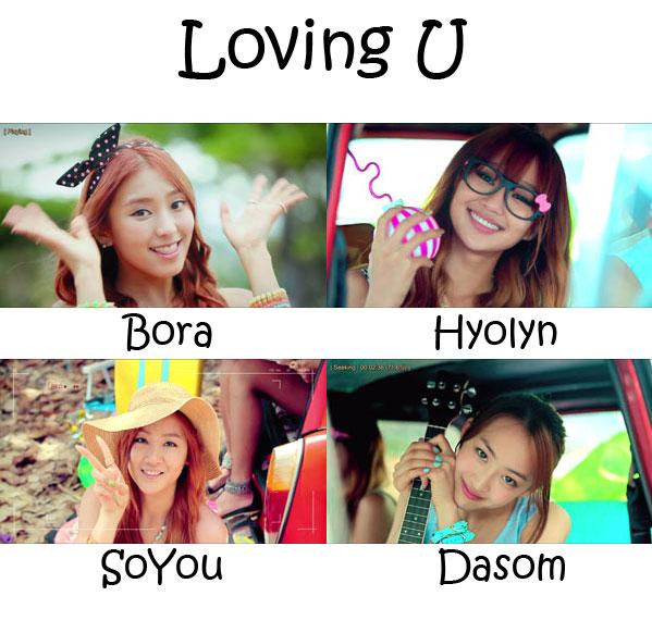 "The members of SISTAR in the ""Loving U"" MV"
