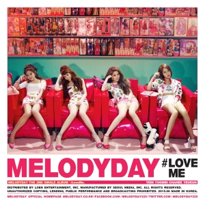 "Album art for Melody Day's album ""#LoveMe"""