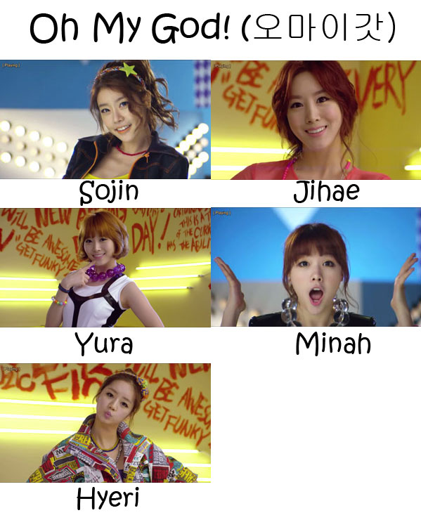 "The members of Girl's Day in the ""Oh My God"" MV"