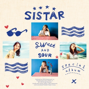 "Album art for SISTAR's album ""Sweet And Sour"""