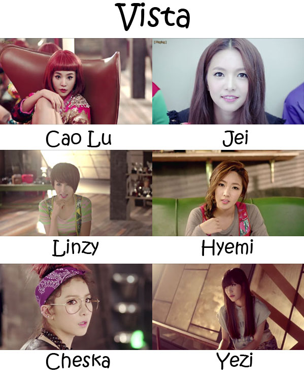 "The members of Fiestar in the ""Vista"" MV"