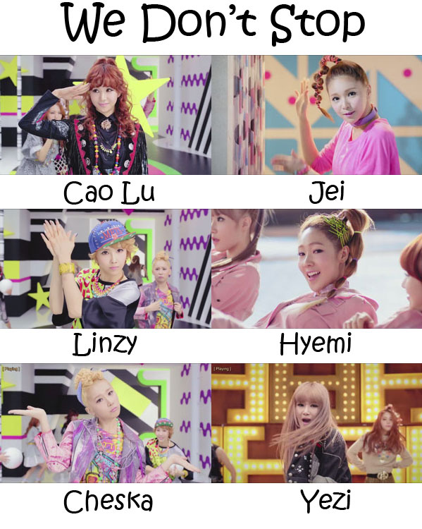 "The members of Fiestar in the ""We Don't Stop"" MV"