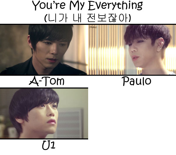 "The members of G.AIM in the ""You're My Everything"" MV"