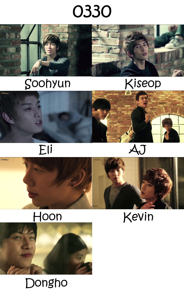"The members of U-Kiss in the ""0330"" MV"