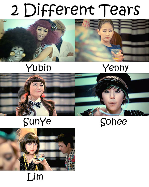 """The members of Wonder Girls in the """"2 Different Tears"""" MV"""
