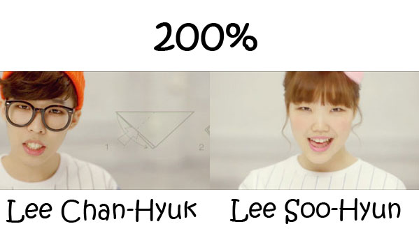 "The members of Akdong Musician in the ""200%"" MV"